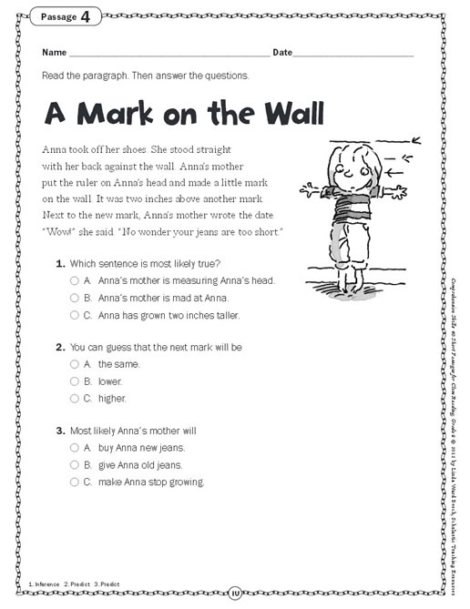 Printables. Short Comprehension Passages For Grade 4. Tempojs Thousands Of  Printable Activities